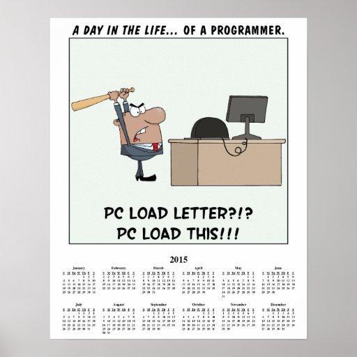 2015 Calendar Computer Error Posters