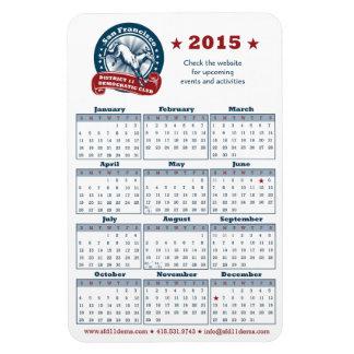 2015 Calendar Magnet