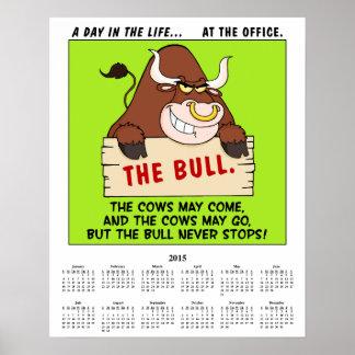 2015 Calendar Office Politics Poster