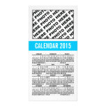 2015 Calendar Photo Card Blue Line