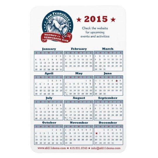 2015 Calendar Rectangular Photo Magnet