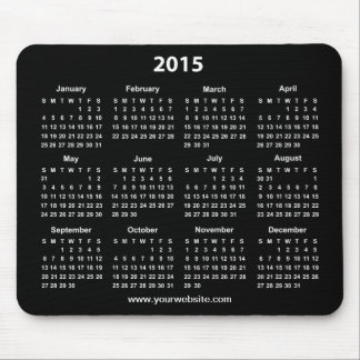 2015 Calender Black and White Business Mouse Mat