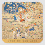 2015 Chinese New Year - Tapestry with Goats - Sticker