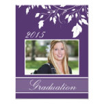 2015 Custom Purple Photo Graduation Announcements