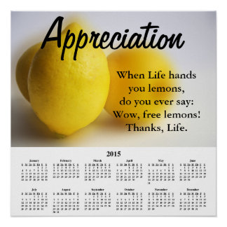2015 Demotivational Calendar Appreciation Print