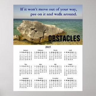 2015 Demotivational Calendar Obstacles Posters