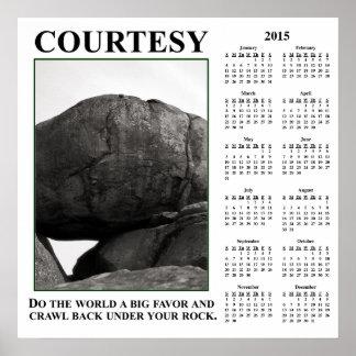 2015 Demotivational Wall Calendar: Leave Me Alone Poster