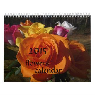 2015 Flowers Calendar