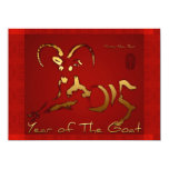 2015 Golden Ram Sheep Goat Year - Invitation 14 Cm X 19 Cm Invitation Card
