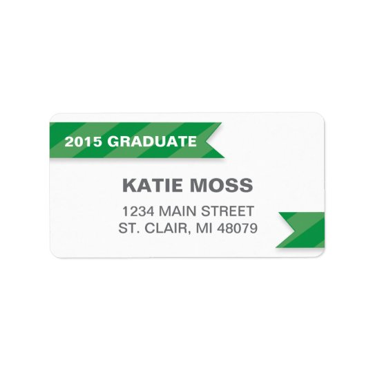 2015 Graduation Address Label  | Green