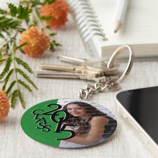 2015 Green Graduation Keepsake Basic Round Button Key Ring