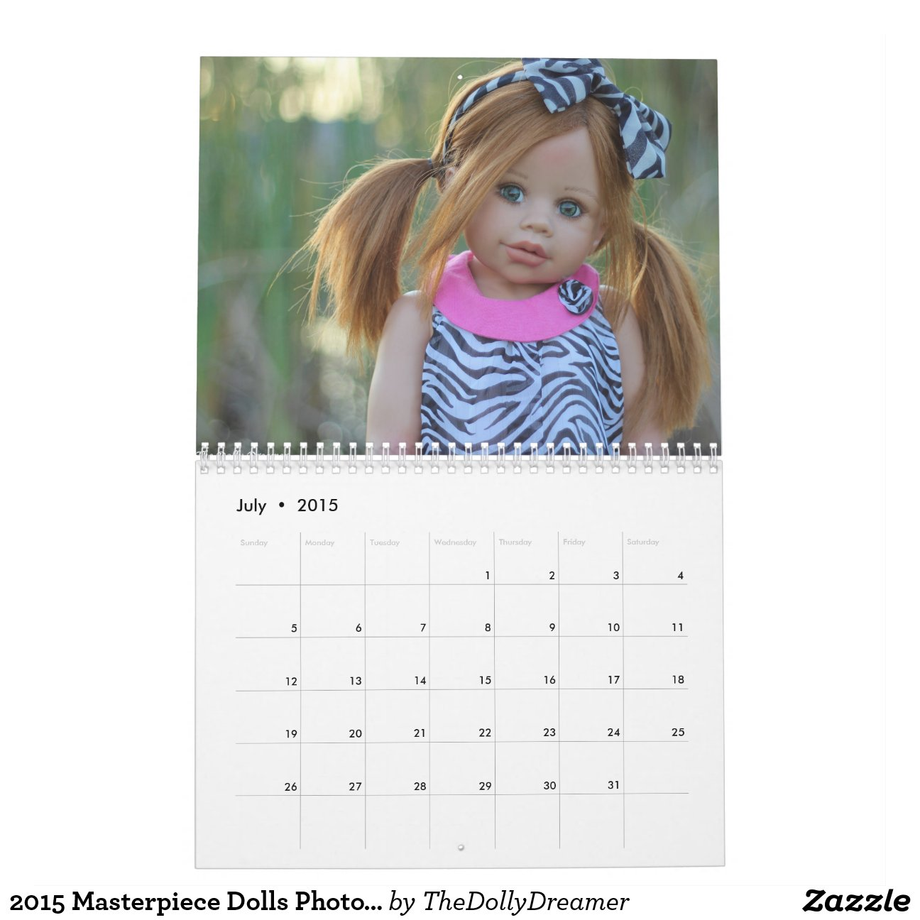 2015 Masterpiece Dolls Photo Calendar | Zazzle