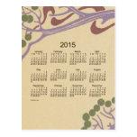 2015 Mini Calendar by Janz Art Nouveau Postcard
