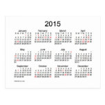 2015 Mini Calendar by Janz with Holidays