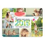 2015 Mod New Year Photo Collage Holiday Card 13 Cm X 18 Cm Invitation Card