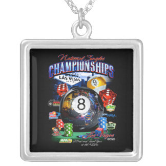 2015 National Singles Championship Silver Plated Necklace