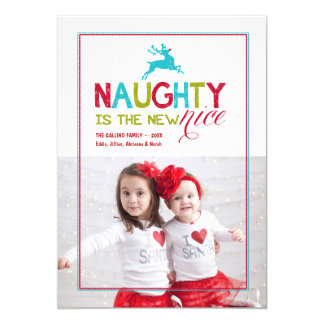 2015 Naughty is the New Nice | Holiday Photo 13 Cm X 18 Cm Invitation Card