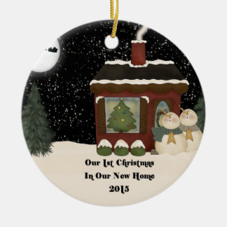 18 Round Our First House Ceramic Christmas Decorations Zazzlecouk