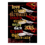 2015 new year motivational resolutions greeting card