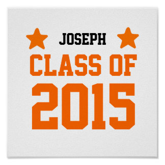 2015 or Any Year Class Of New Grad with Stars S18 Poster