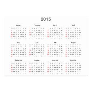 2015 Pocket Calendar & Business Card in One