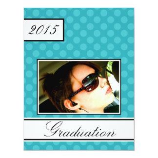 2015 Screen Dot Teal Open House Party Graduation 11 Cm X 14 Cm Invitation Card