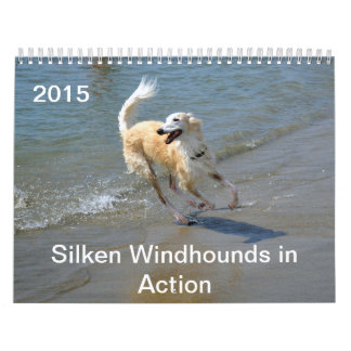 2015 Silken Windhounds in Action Wall Calendars