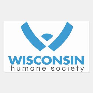 2015 Wisconsin Humane Society Logo Rectangular Sticker