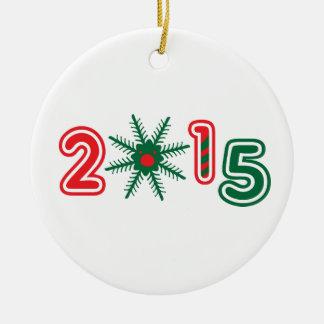 2015 X-MAS Circle Ornament