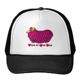 2015 Year of the Ram Sheep or Goat - pink Cap