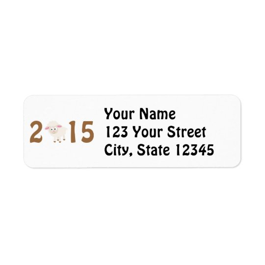 2015 - Year of the sheep design Return Address Label