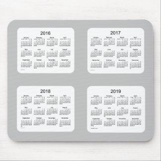 2016-2019 Silver Calendar by Janz Mousepad