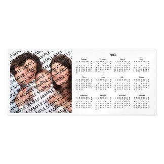 2016 Annual Family Photo Calendar Template Magnetic Invitations