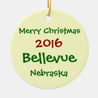 2016 BELLEVUE NEBRASKA MERRY CHRISTMAS ORNAMENT