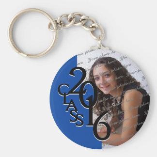 2016 Blue Graduation Keepsake Basic Round Button Key Ring