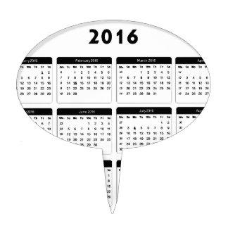 2016 Calendar2 jGibney The MUSEUM Zazzle Gifts Cake Picks