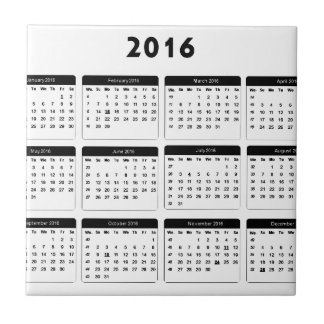 2016 Calendar2 jGibney The MUSEUM Zazzle Gifts Small Square Tile