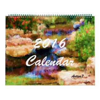 2016 Calendar Japanese Garden Art Huge Two Page