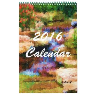 2016 Calendar Japanese Garden Art Single Page