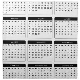 2016 Calendar jGibney The MUSEUM Zazzle Gifts Cloth Napkin