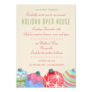 2016 Christmas Holiday Open House Party Invitation