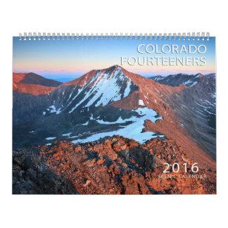 2016 Colorado Fourteeners Calendar