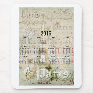 2016 Eiffel Tower Paris New Year Gifts Mouse Mat