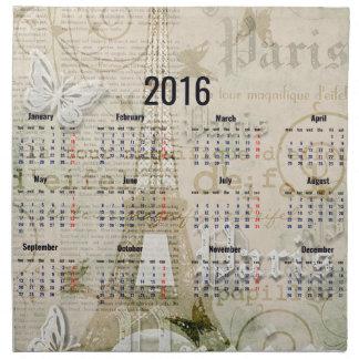 2016 Eiffel Tower Paris New Year Gifts Napkin