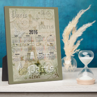 2016 Eiffel Tower Paris New Year Gifts Plaque