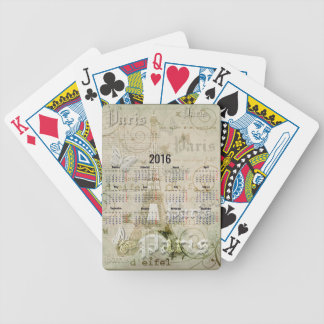 2016 Eiffel Tower Paris New Year Gifts Poker Deck