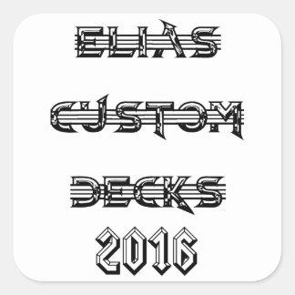 2016 elias custom decks logo square sticker