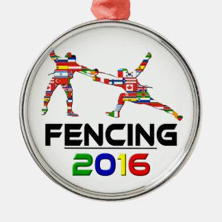 2016: Fencing Silver-Colored Round Decoration