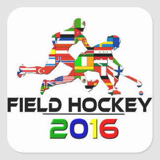 2016: Field Hockey Square Sticker