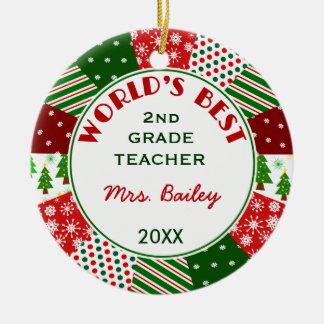 2016 For Favorite Teacher Customized Round Ceramic Decoration